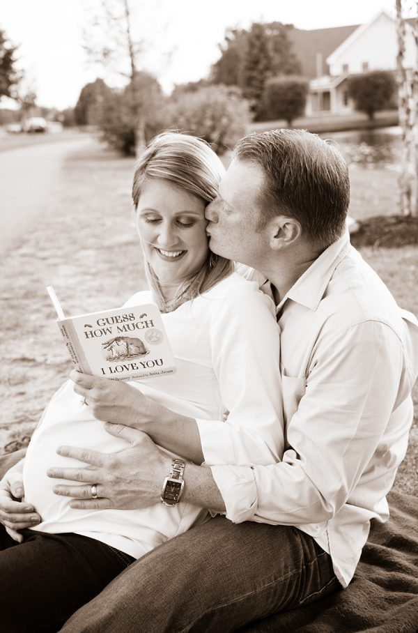 All Occasions Photography Albany NY - Maternity Photography Reading Book