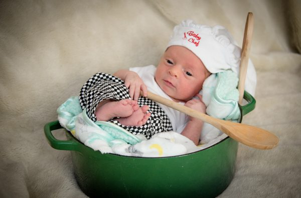 All Occasions Photography Albany NY - Newborn Photography Infant in Chef Hat
