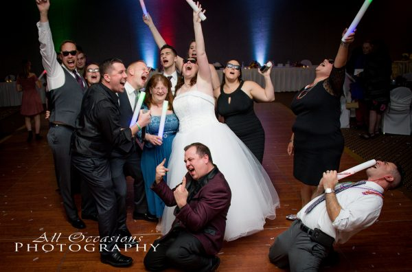 All Occasions Photography Albany NY - Wedding Photography Bride & Groom Partying on Dance Floor