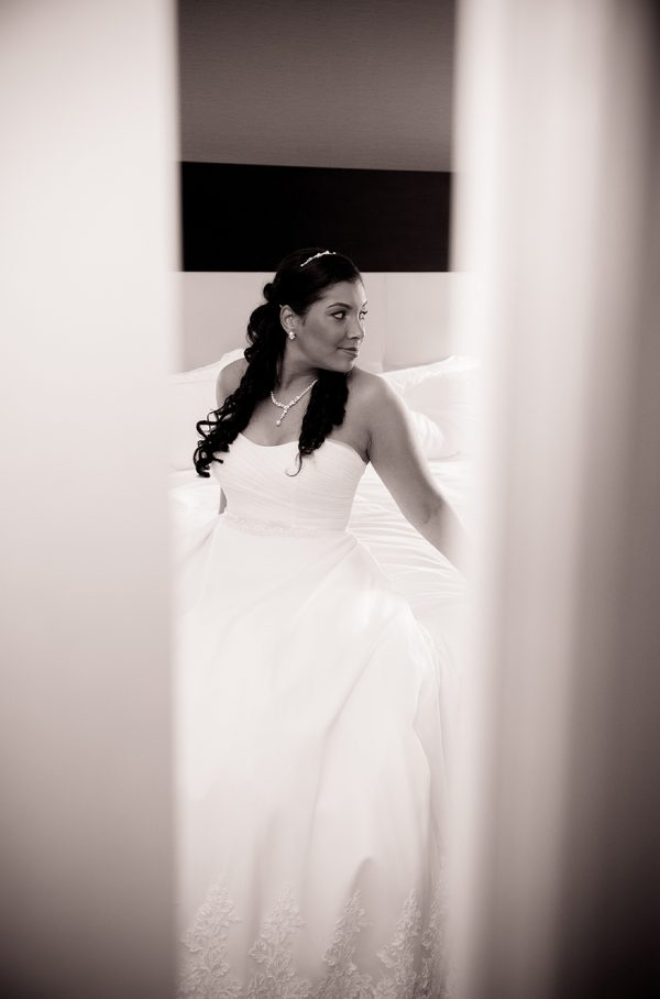 All Occasions Photography Albany NY - Wedding Photography Bride Door frame Shot