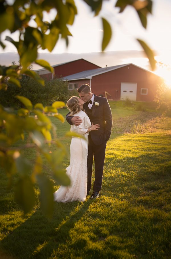 All Occasions Photography Albany NY - Wedding Photography Bride & Groom Farm Sunset