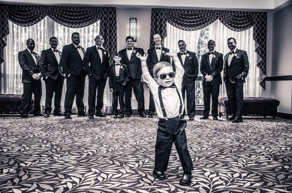 All Occasions Photography Albany NY - Wedding Photography Ringbearer & Groomsmen Laughing