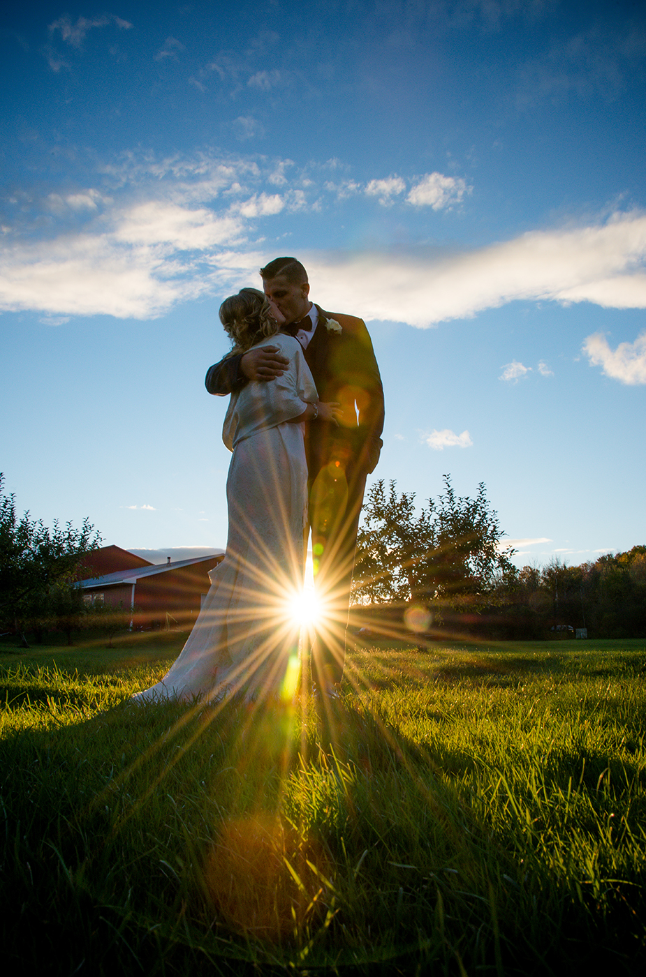 All Occasions Photography Albany NY - Wedding Photography Bride & Groom at Sunset