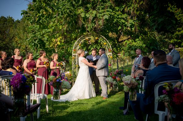 All Occasions Photography Albany NY - Wedding Photography Bride & Groom at Outside Altar