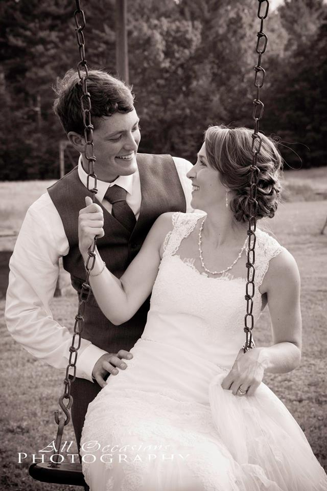 All Occasions Photography Albany NY - Wedding Photography Groom Pushing Bride on Swing