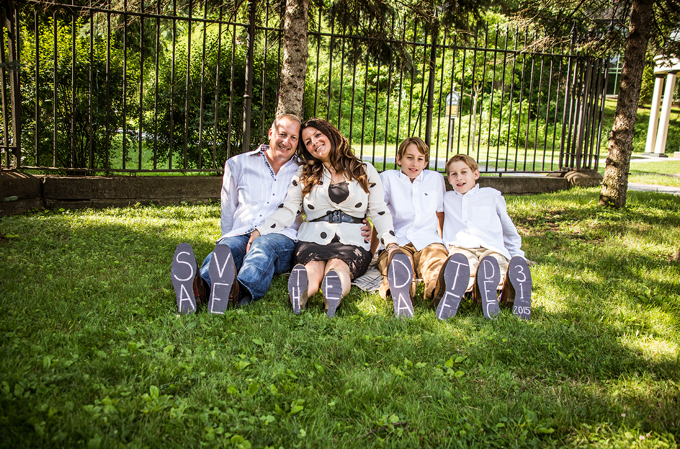 All Occasions Photography Albany NY - Engagement Photography Parents & Children Shoe Announcement