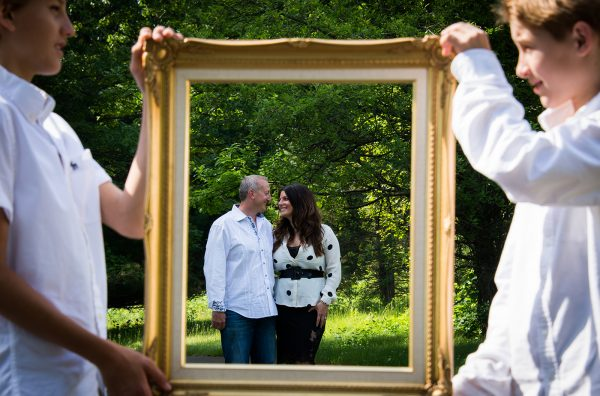 All Occasions Photography Albany NY - Engagement Photography Parents & Children Picture Frame Shot