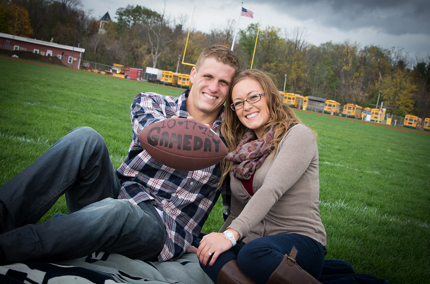 All Occasions Photography Albany NY - Engagement Photography School Football Field