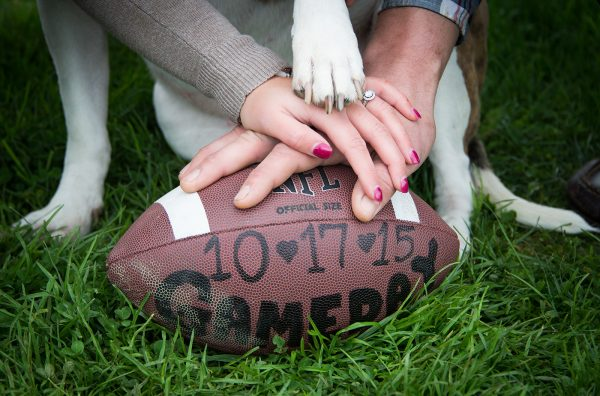 All Occasions Photography Albany NY - Engagement Photography Hands on Football
