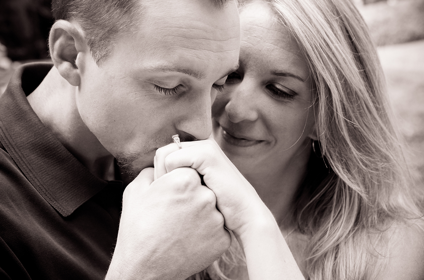 All Occasions Photography Albany NY - Engagement Photography Man Kissing Fiances Hand