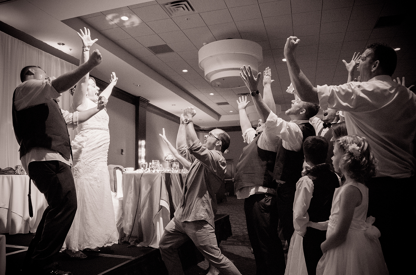 All Occasions Photography Albany NY - Wedding Photography Bride & Groom Having Fun With Bridal Party