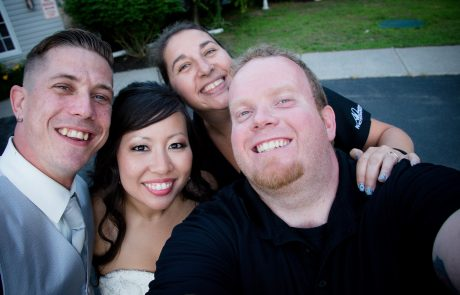 All Occasions Photography Albany NY - Wedding Photography Happy Selfie with Bride & Groom