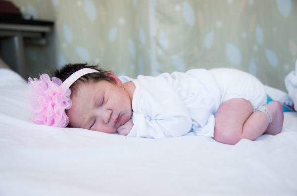 All Occasions Photography Albany NY - Newborn Photography Tulle Headband on Infant