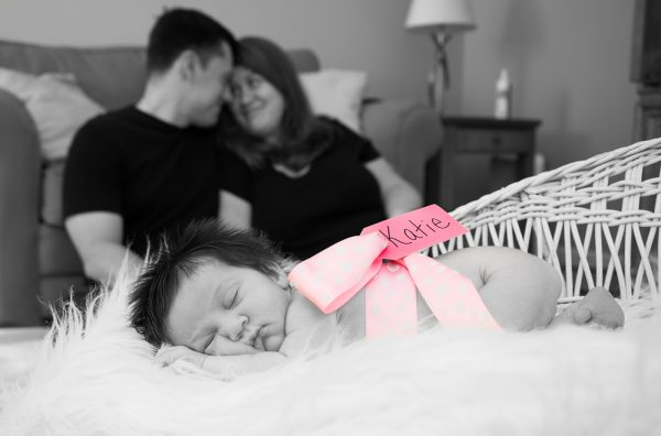 All Occasions Photography Albany NY - Newborn Photography Ribbon With Name Around Baby