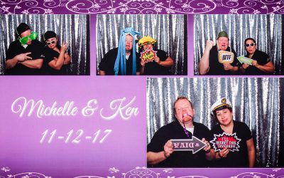 All Occasions Photography Albany NY - Wedding Photography Funny Photobooth Collage Against Silver Backdrop