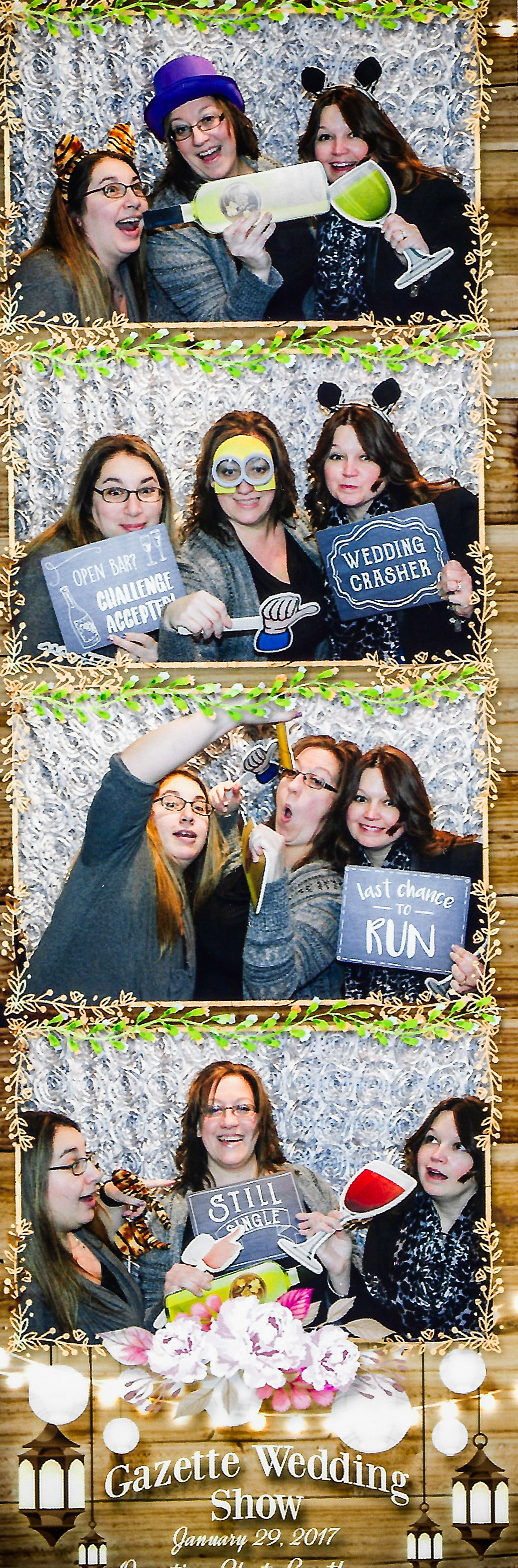 All Occasions Photography Albany NY - Wedding Photography Funny Photobooth Collage Gazette Wedding Show
