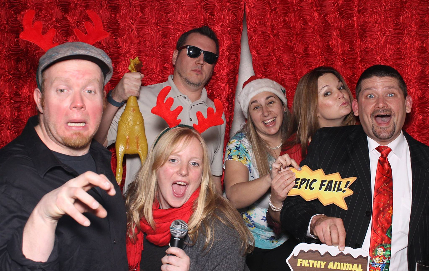 All Occasions Photography Albany NY - Wedding Photography Funny Photographers Holding Silly Christmas Signs & Rubber Chicken