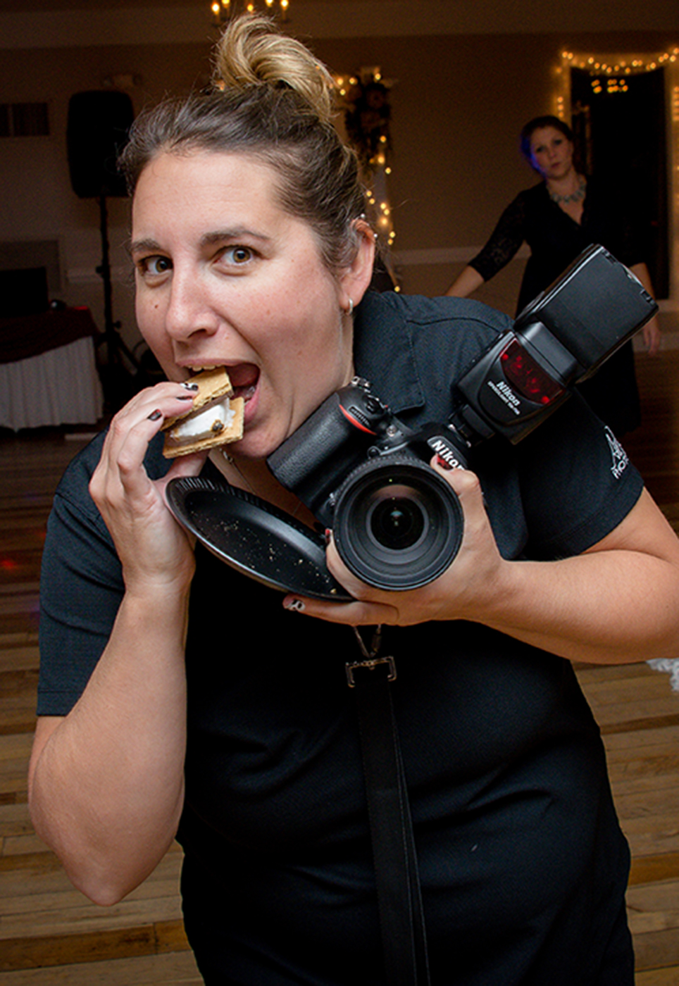 All Occasions Photography Albany NY - Wedding Photography Vanessa Eating Smore