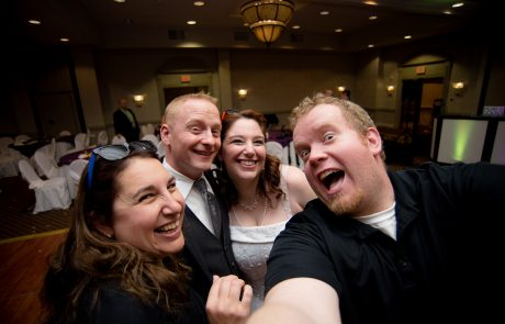 All Occasions Photography Albany NY - Wedding Photography Bride & Groom Selfie With the Photographers
