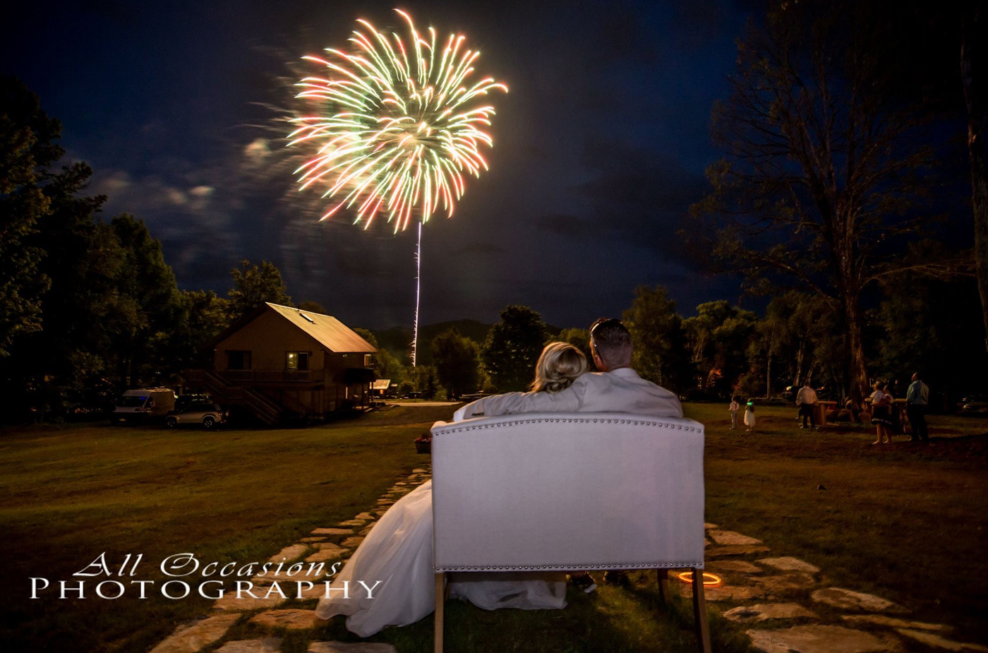 All Occasions Photography Albany NY - Wedding Photography Fireworks at Night