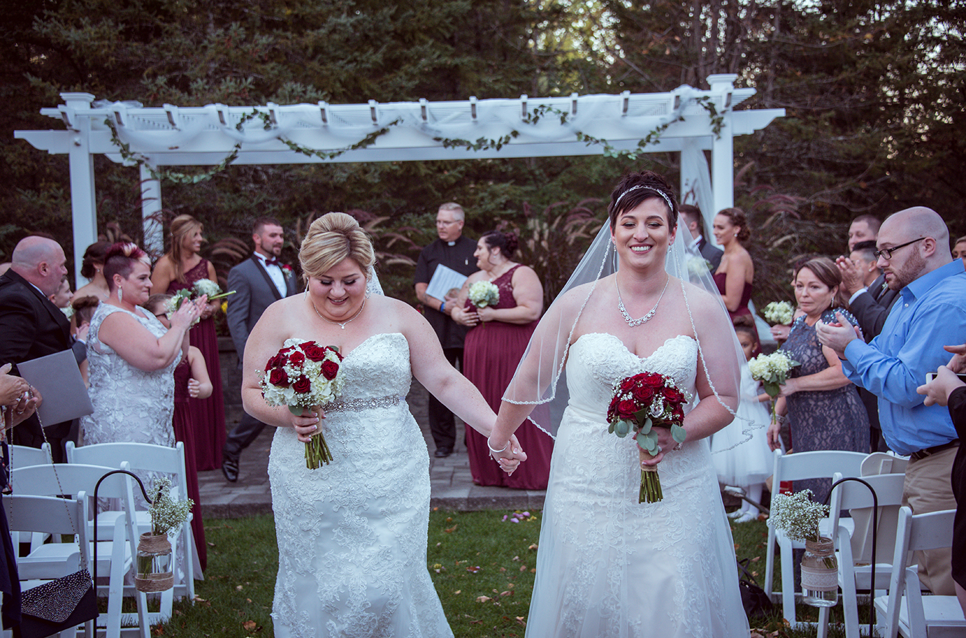 All Occasions Photography Albany NY - Wedding Photography Brides Walking Down Aisle