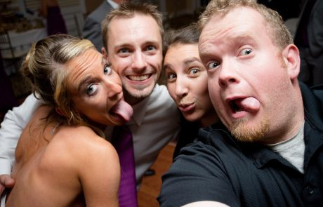 All Occasions Photography Albany NY - Wedding Photography Big Smiling Selfies With Bride & Groom Tongues Out