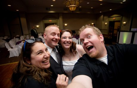 All Occasions Photography Albany NY - Wedding Photography Big Smiling Selfies With Bride & Groom Banquet Hall