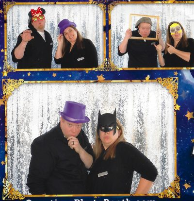 All Occasions Photography Albany NY - Wedding Photography Funny Photobooth With Crazy Hats Shiny Backdrop