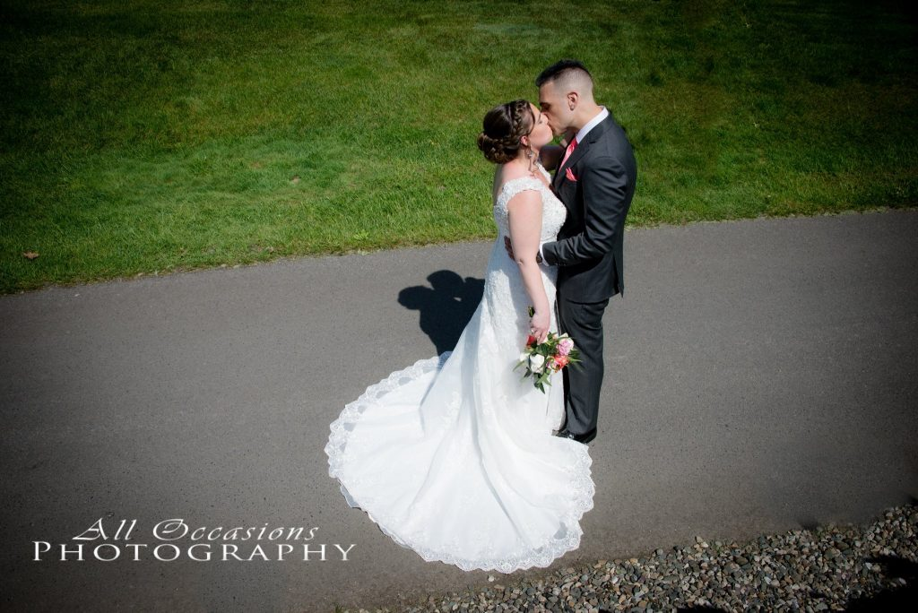 All Occasions Photography Albany NY - Wedding Photography Bride & Groom Kissing View From Above