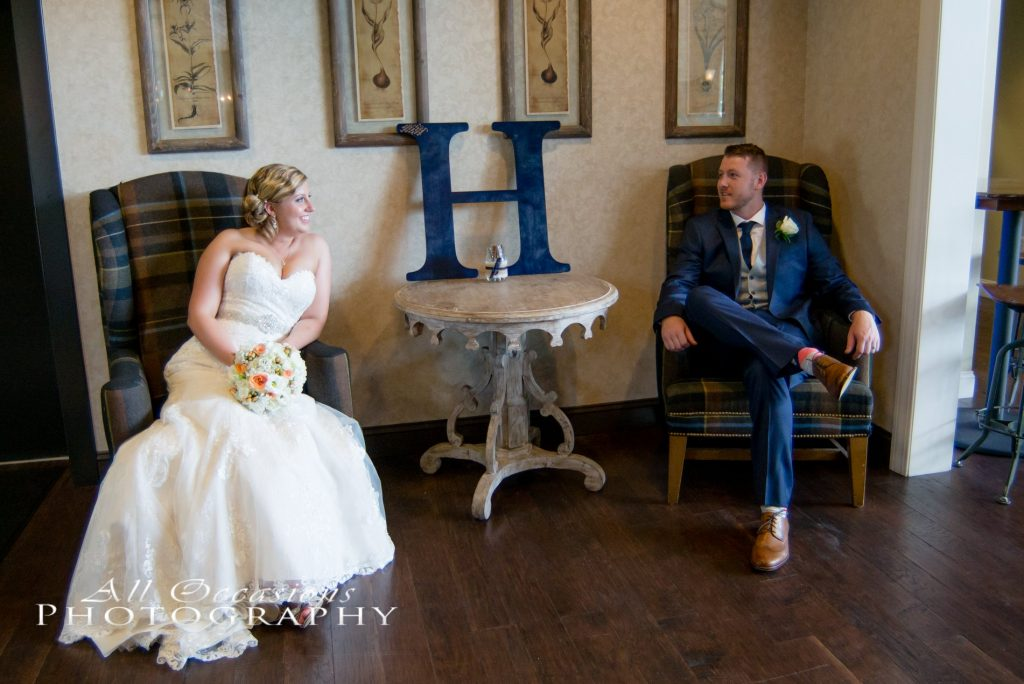 All Occasions Photography Albany NY - Wedding Photography Groom & Bride Sitting in Chairs